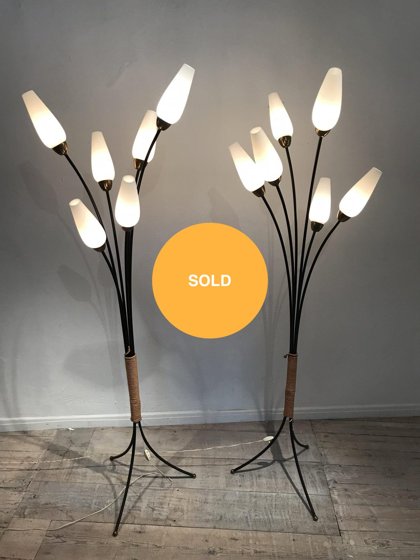 French pair of floor lamps