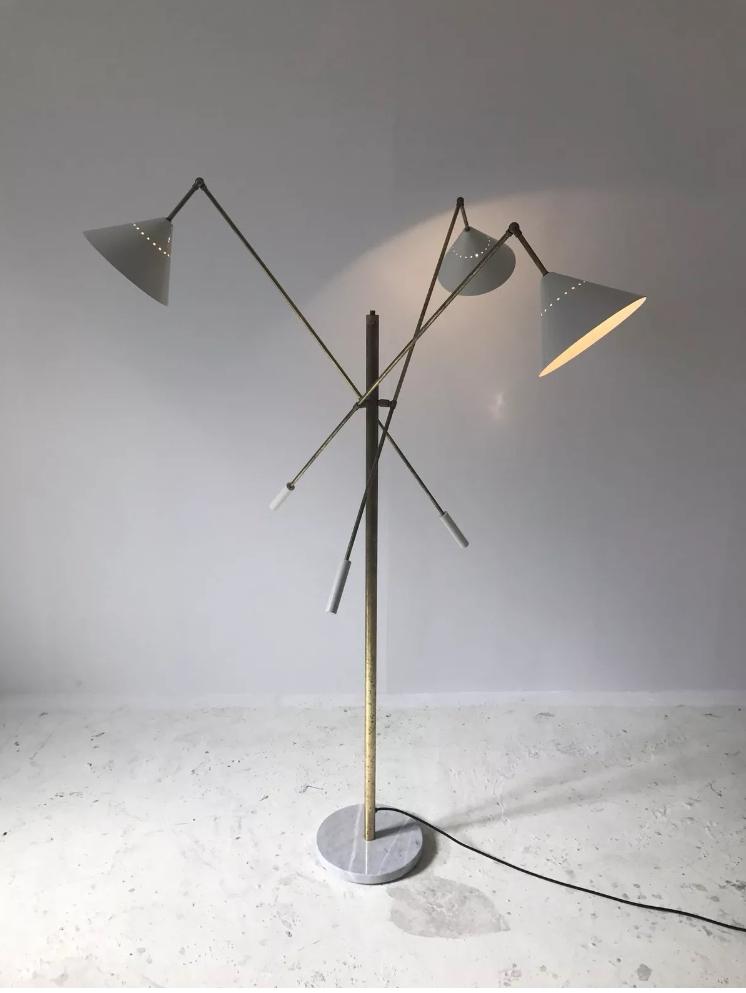 Stilnovo white floor lamp