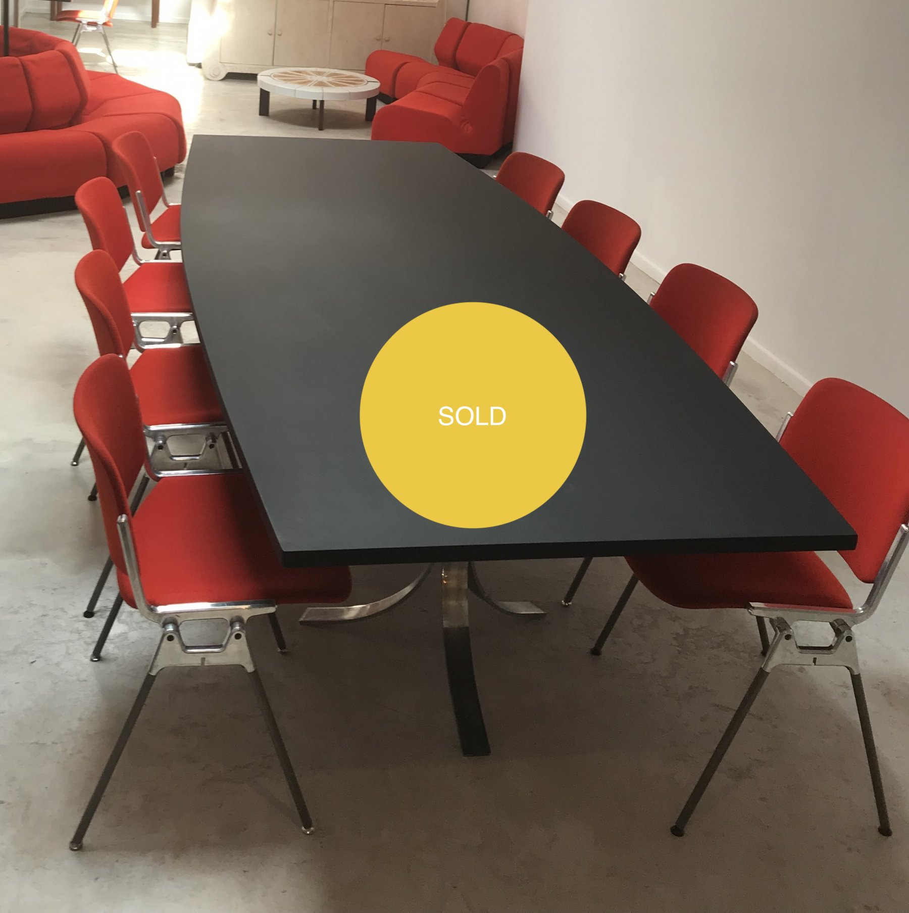 Italian black dining table