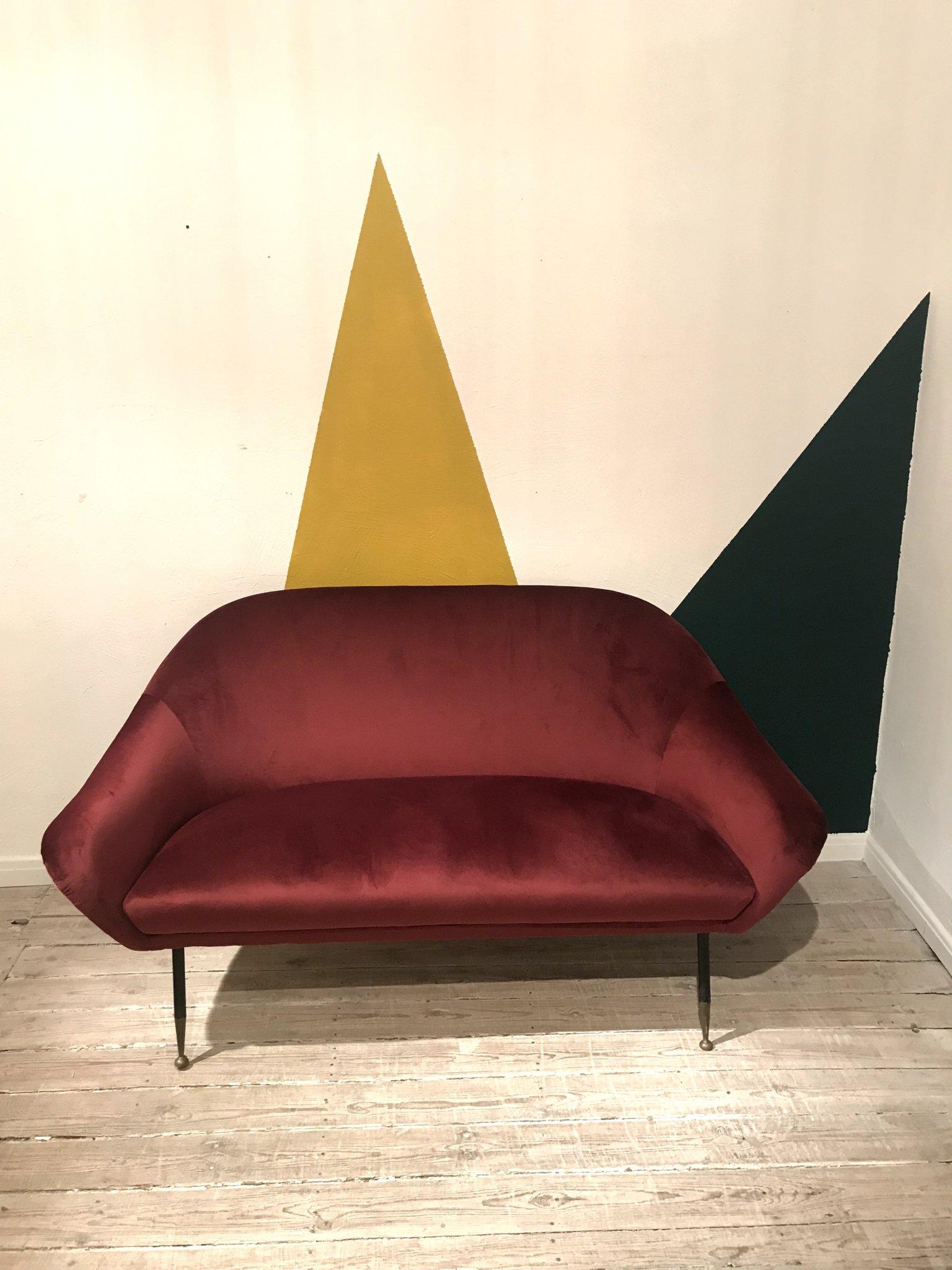 Italian velvet sofa
