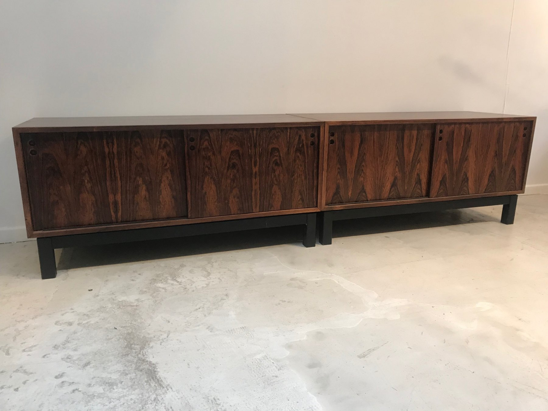 Set of 2 low sideboards