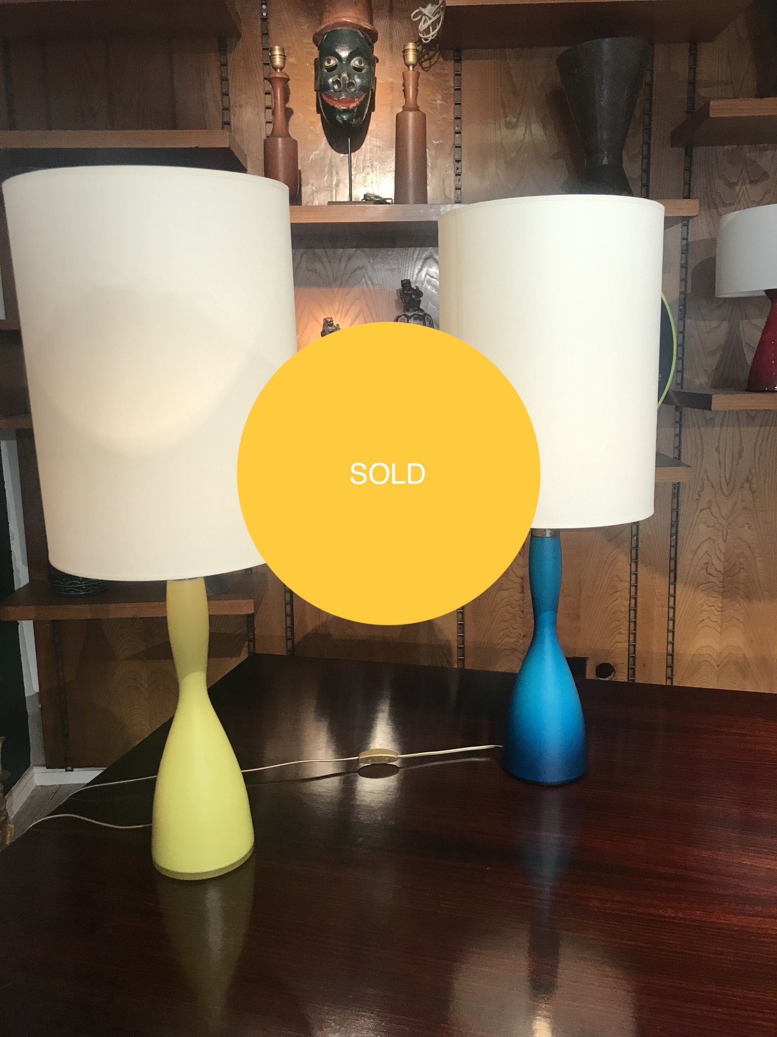 Blown glass table lamps
