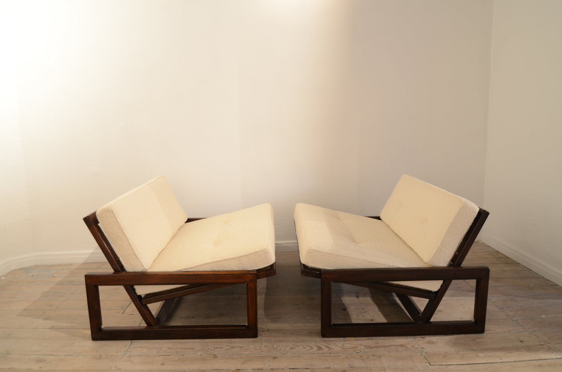 "Pair of Scarpa ""Carlotta"" easy chairs"