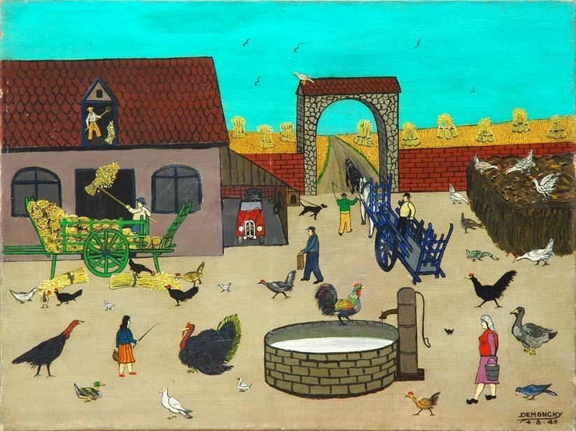 """Andre Demonchy, """"La Ferme et la basse-cour"""", 1949"""