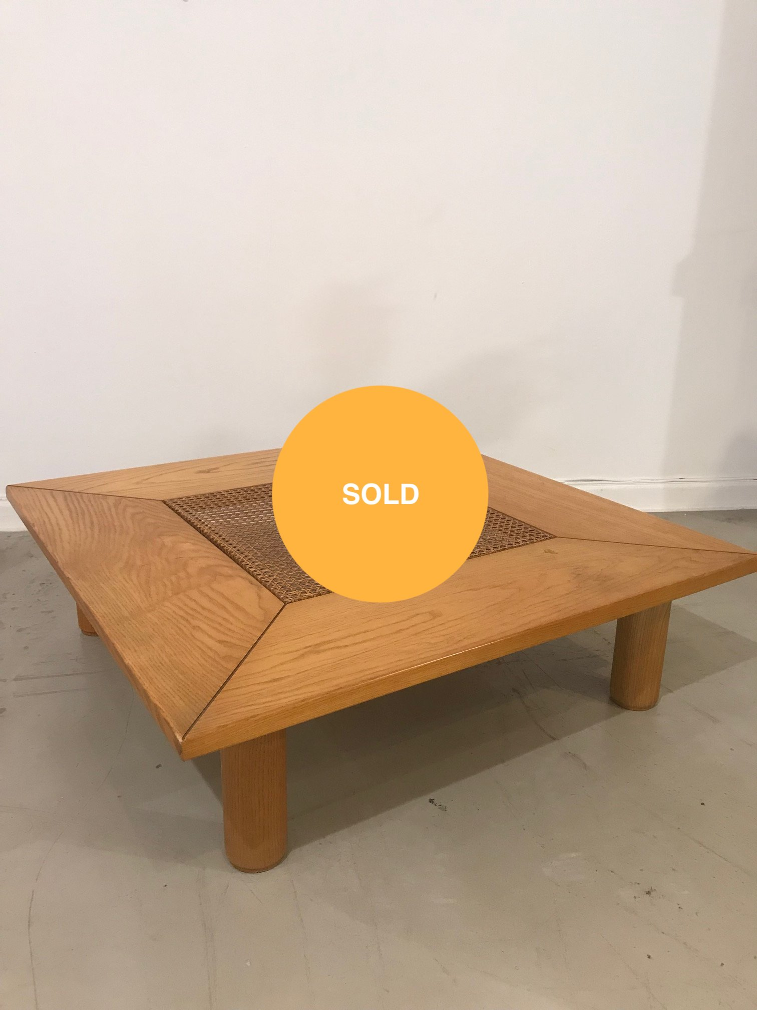 Square shaped wood coffee table