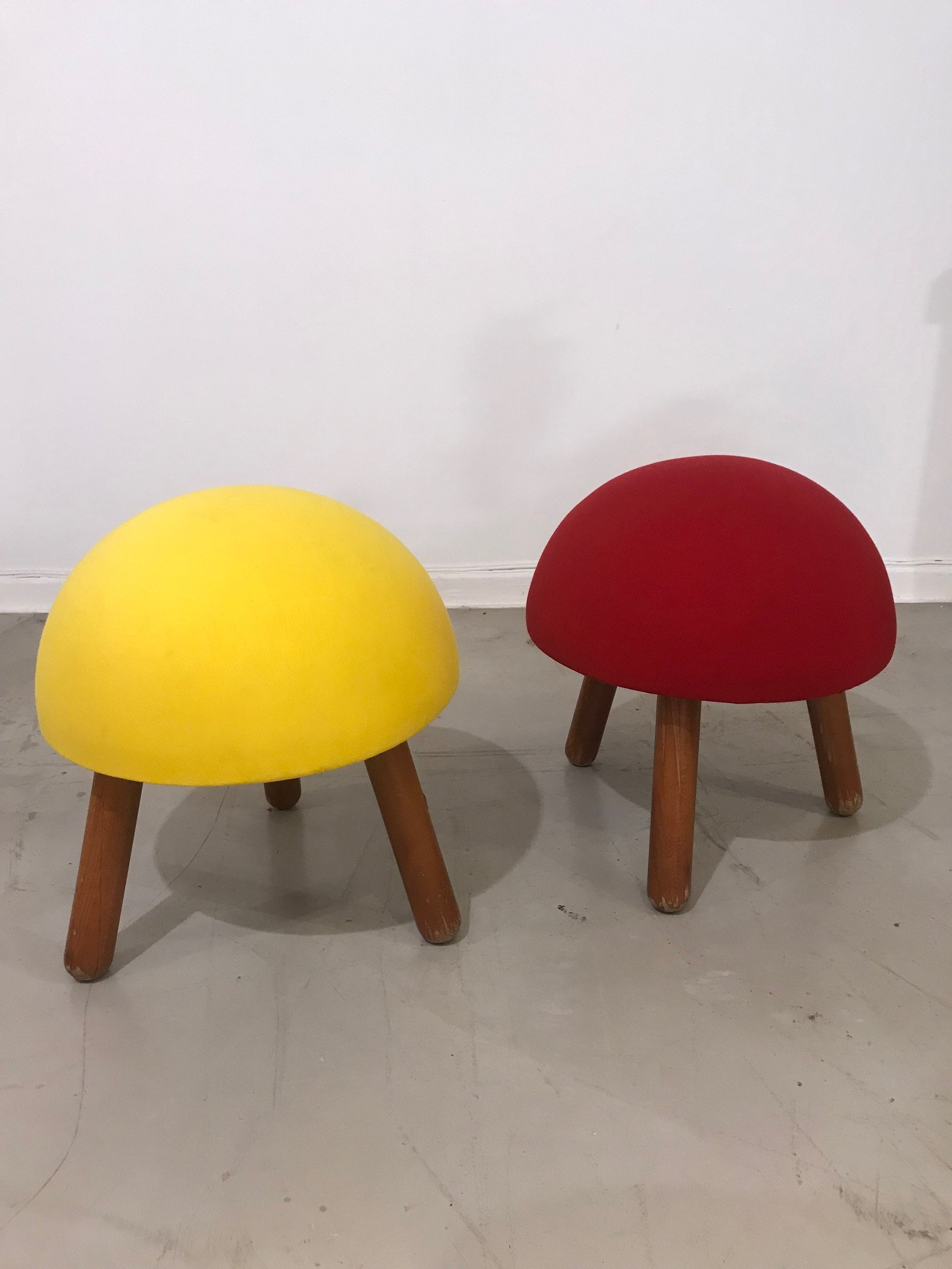 Pair of coloured stools