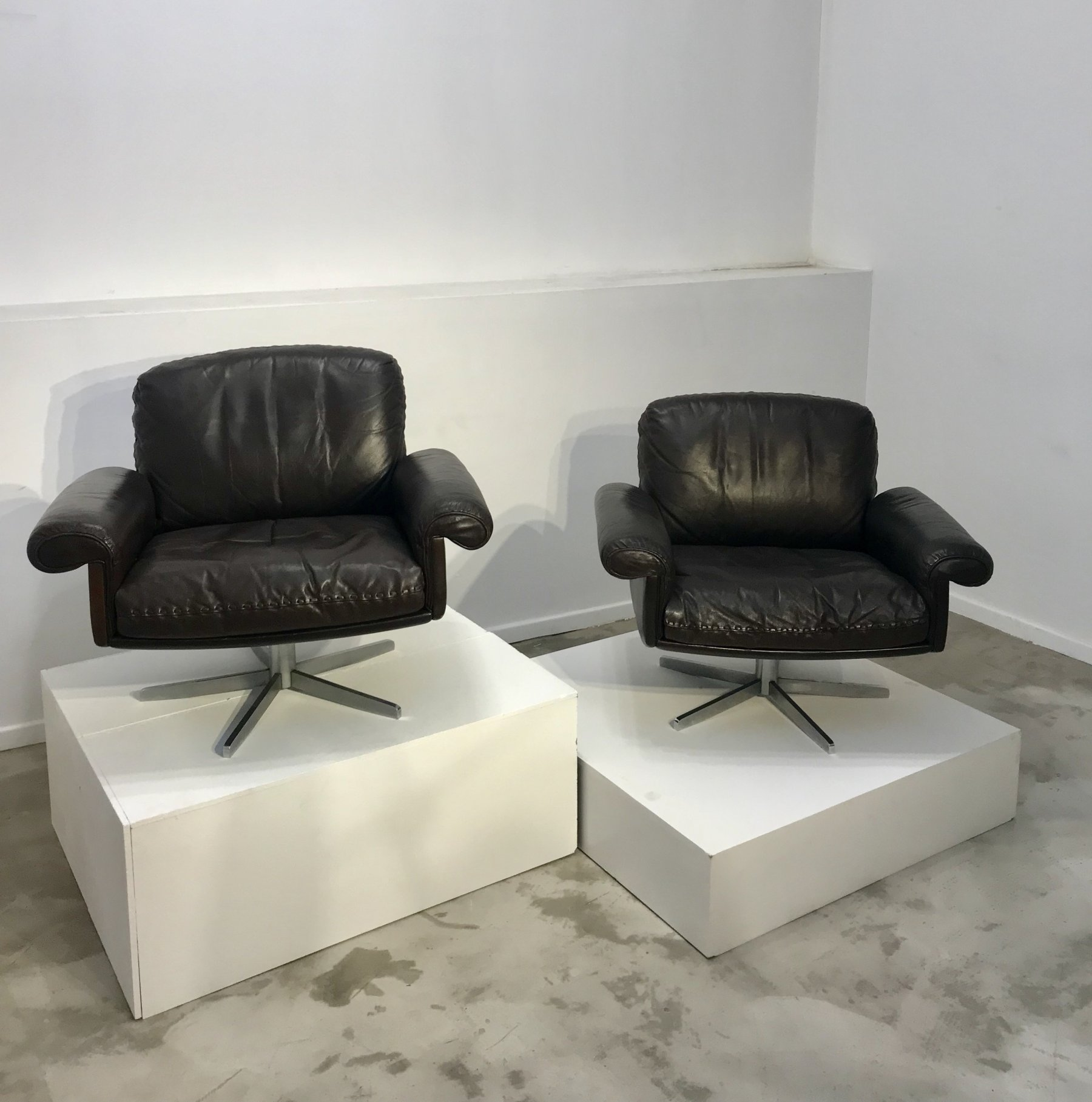 Pair of De Sede armchairs