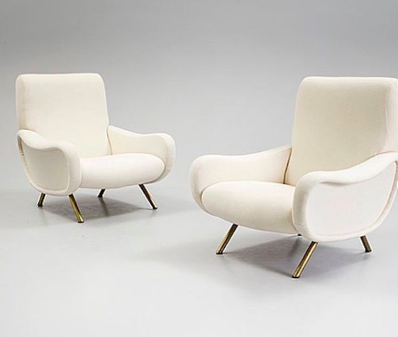 "Pair of ""Lady"" armchairs by Zanuso"