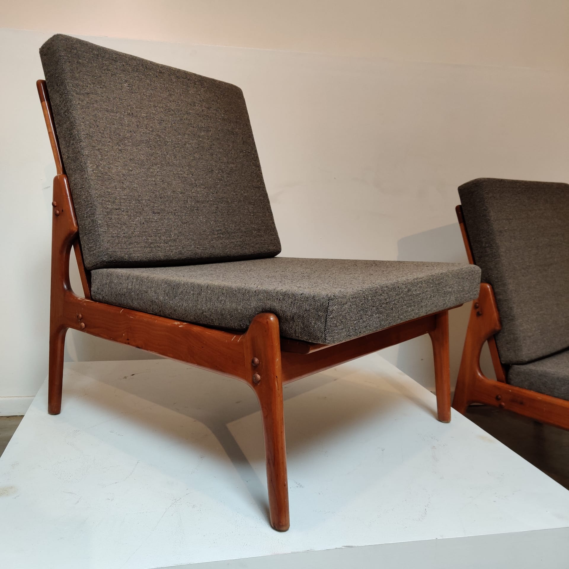 Danish pair of lounge chairs by Erik Buch