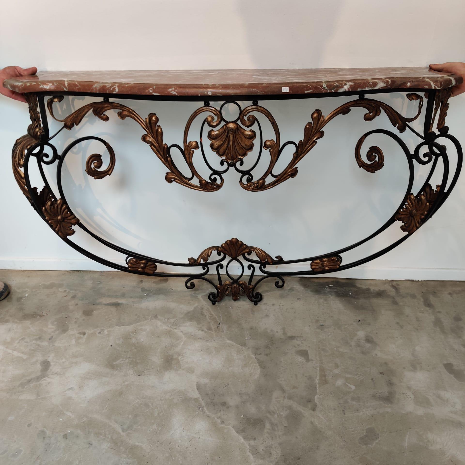 XIXth century iron console