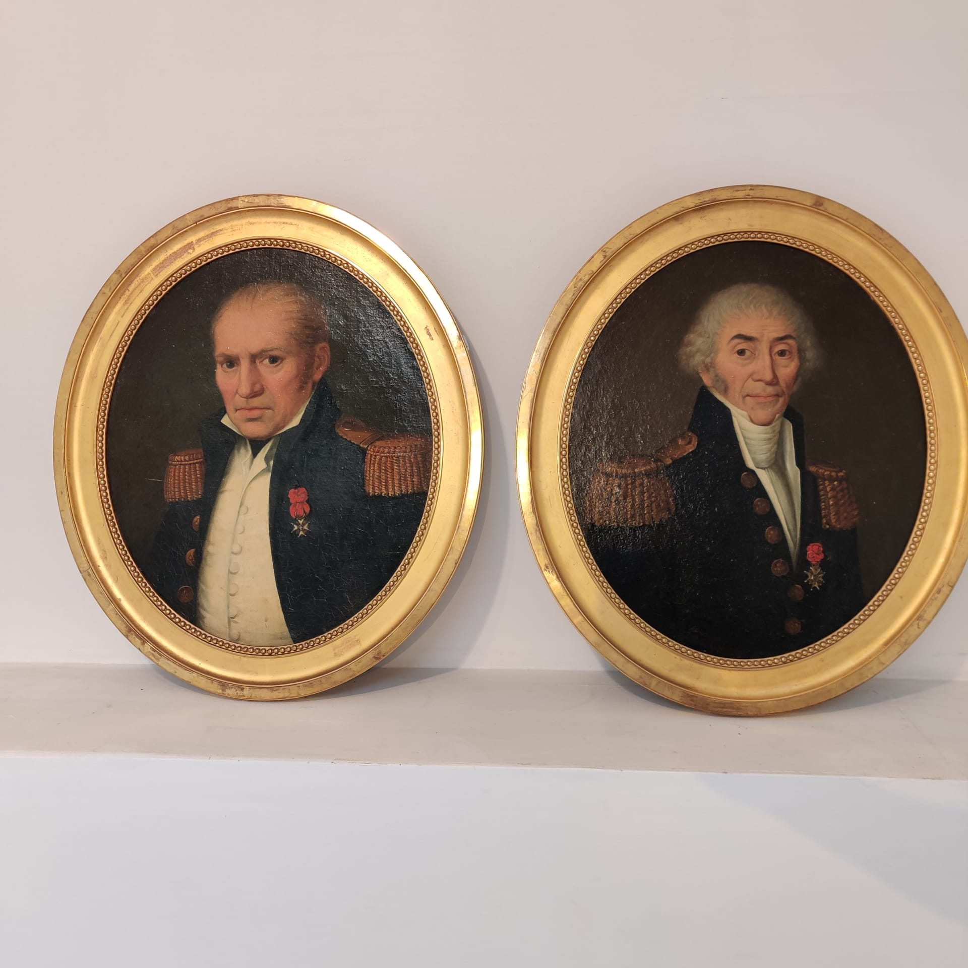 Pair of military portraits