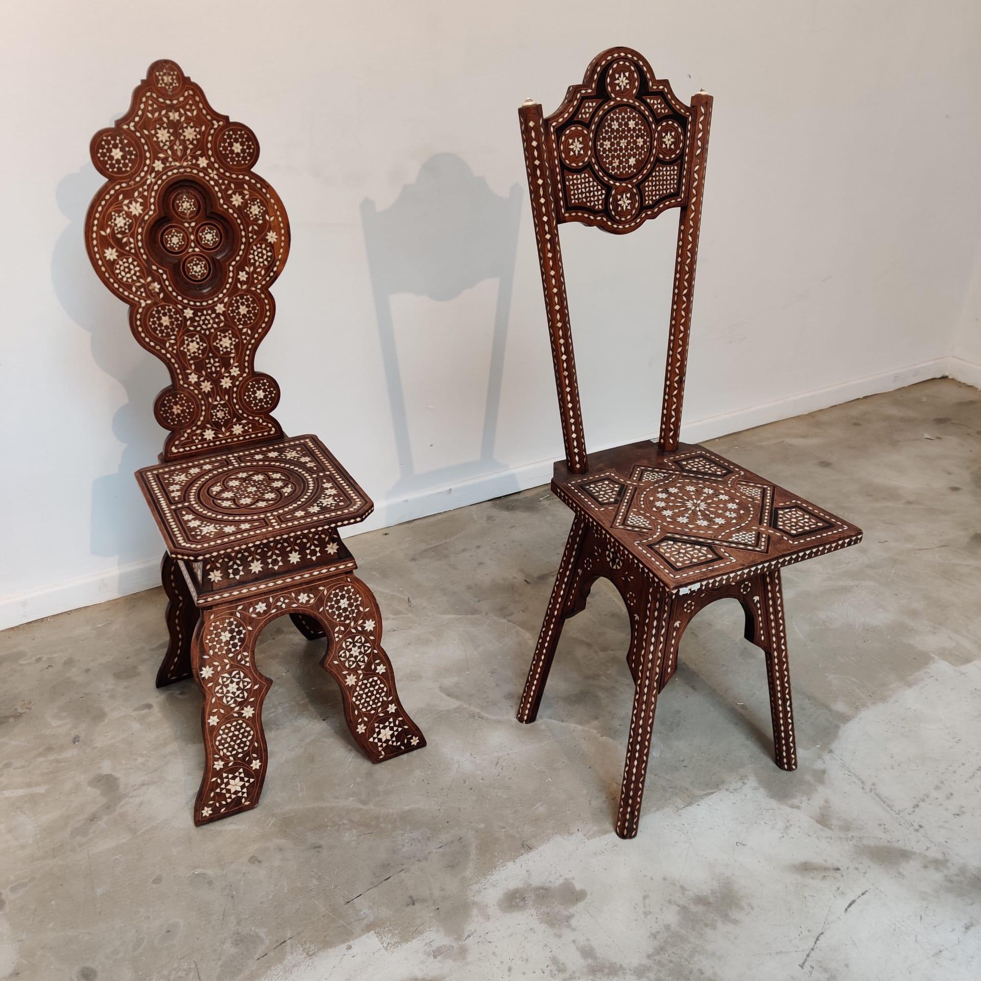 Syrian XIXth century chairs