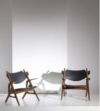 4 easy chairs attributed to H. Wegner