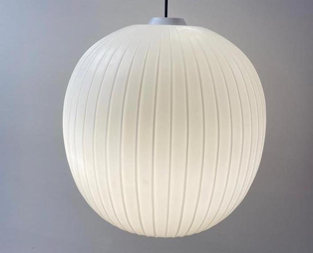 Large japanese style opaline ceiling lamp