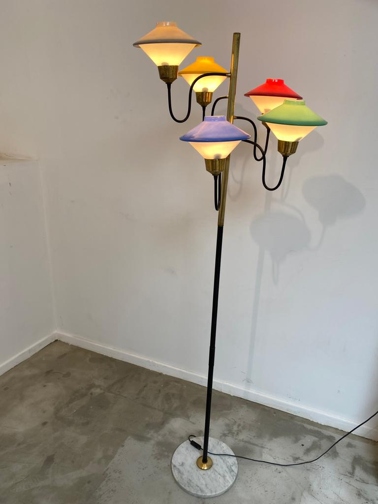 Italian coloured glass floor lamp